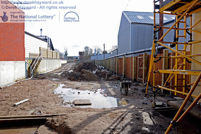 Looking south out of the carriage shed. Water is no longer draining into this area. 24.02.2011  5934