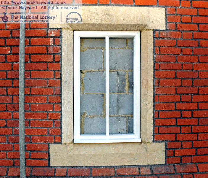 One of the false windows, with stone surround. To answer the obvious question, black glass is about to the fitted, so the wall will be hidden. 03.02.2011  5677