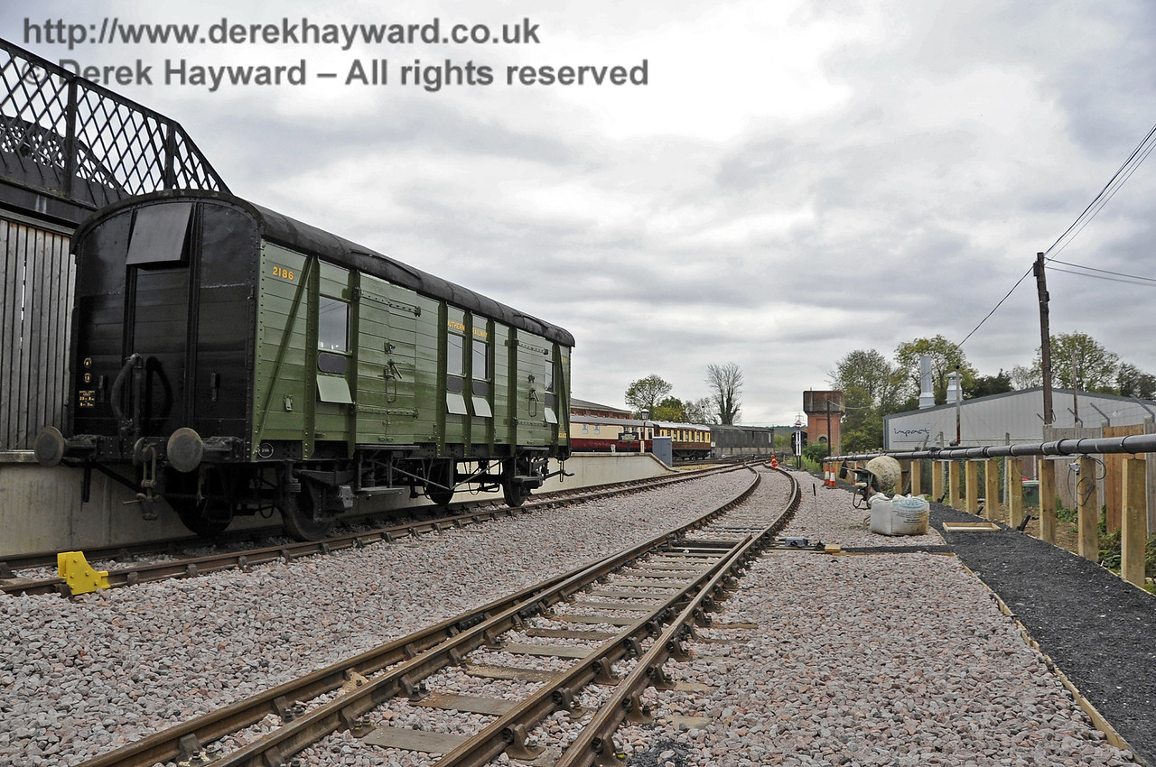Looking south from the Carriage Shed with the Dock on the left.  A new path is on the right.  21.10.2011  3034