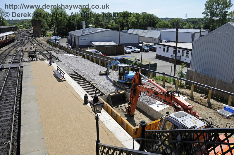 Ballast is being laid ready for the new track into the Carriage Shed.  01.06.2011  7370