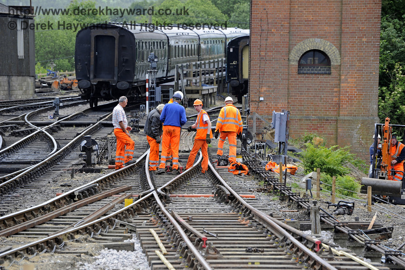 PWay working on the new track that will give access to the Carriage Shed.  26.05.2011  1696