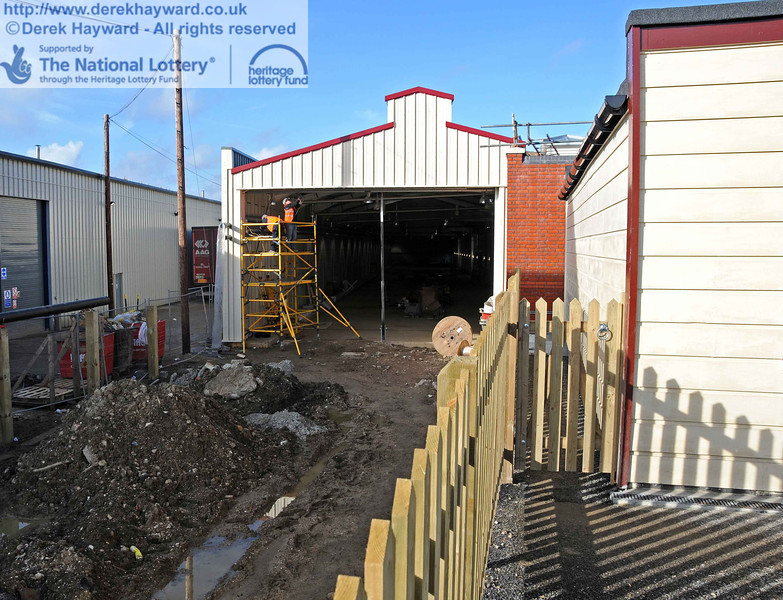 The shed seen from the public area. The gate marks the boundary of public access. 03.02.2011  5656