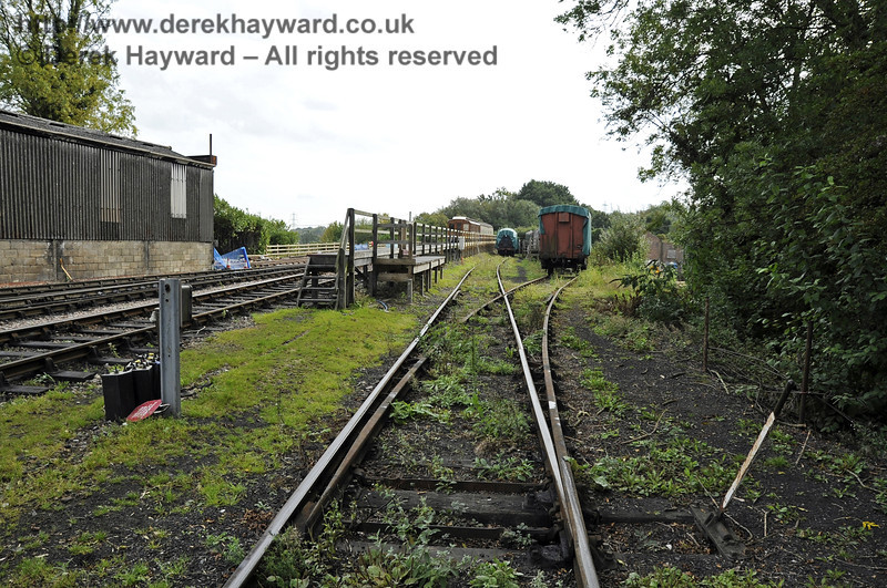 Looking south down what will be the Carriage Shed headshunt from beside the water tower.   24.09.2011  2897