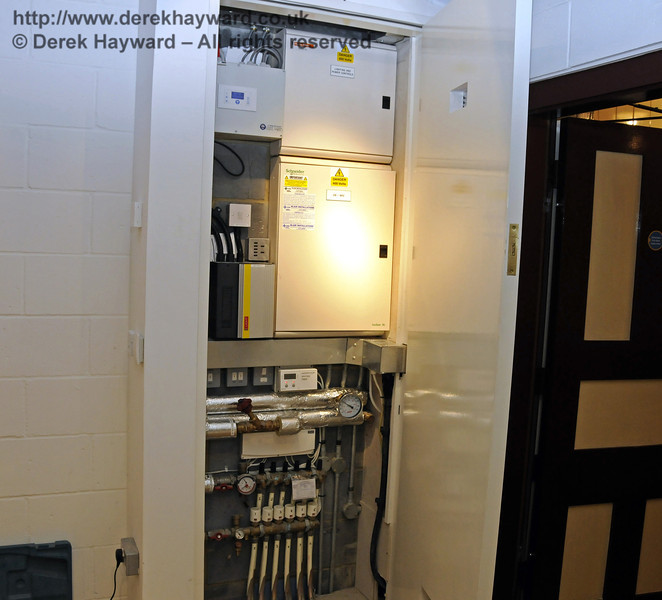 The various control panels for the Museum area, with installation in progress.  25.03.2011  6518