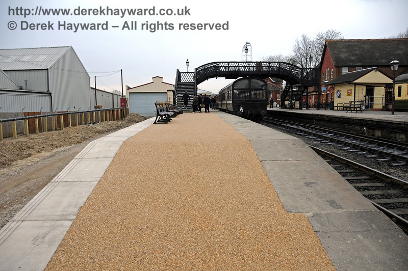 The completed stone resin surface on Platform 2, looking north.  12.03.2011  6282