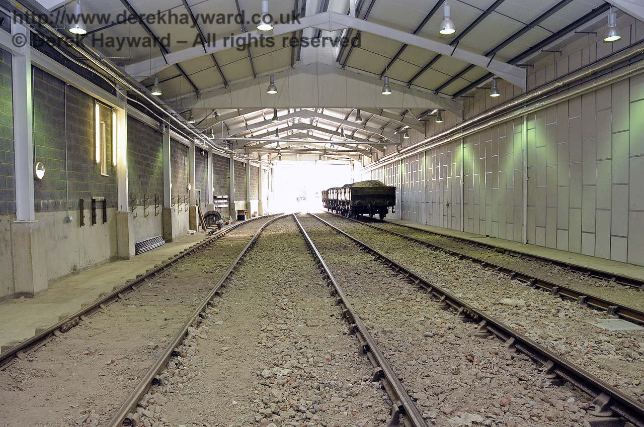 Looking south in the Carriage Shed from the centre, approximately adjacent to the Pullman Room.  24.09.2011  2865
