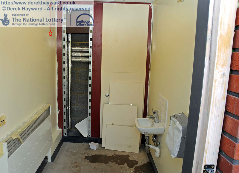 The disabled toilet, with emergency alarm cord installed. 24.02.2011  5941