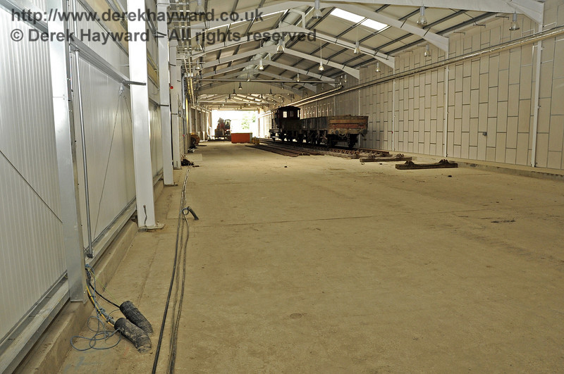 Looking south in the Carriage Shed with S&T in the process of pulling cables.  03.07.2011  2093