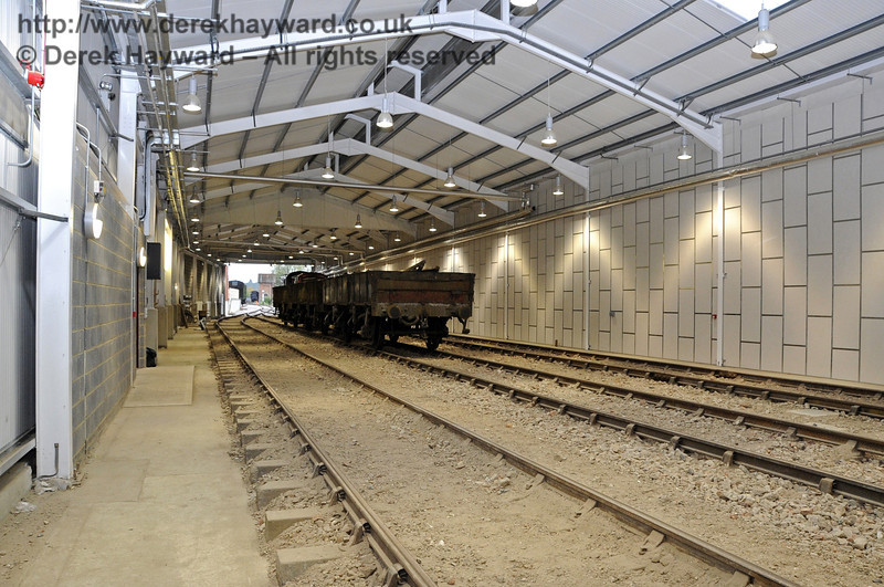 Looking south in the Carriage Shed from the centre, approximately adjacent to the Pullman Room.  21.10.2011  3023