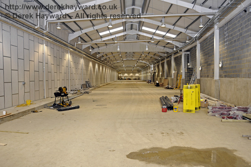 Looking north in the Carriage Shed from the southern end.  17.03.2011  6449