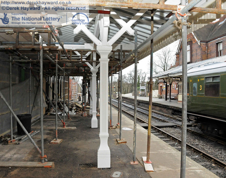 Now on Platform 2, and looking north through the new structure. 06.02.2011  5798