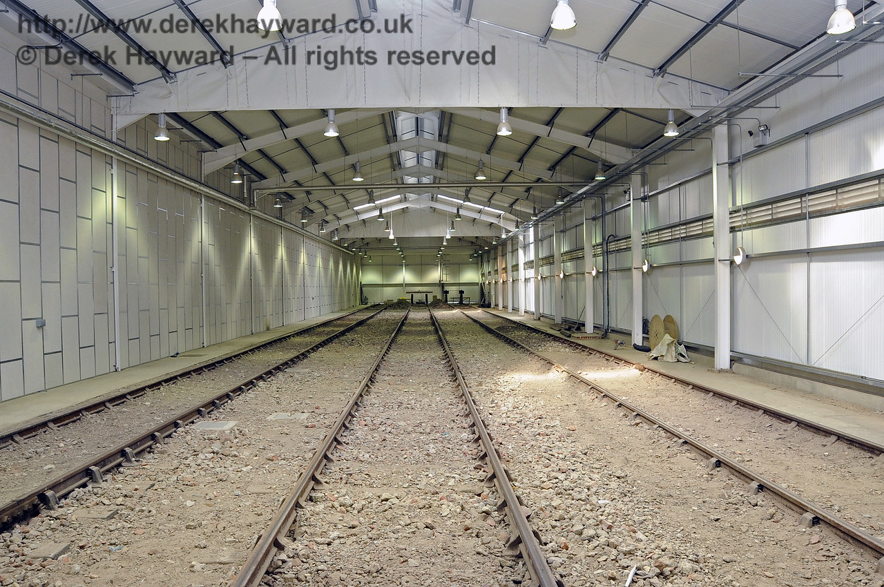 Looking north in the Carriage Shed from the centre, approximately adjacent to the Pullman Room.  24.09.2011  2866