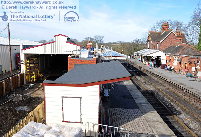 Looking towards the carriage shed from the footbridge. 24.02.2011  5985