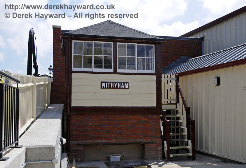 The exterior of Withyham signal box has been refurbished, but it has not yet been fitted out internally.  21.05.2011  7110
