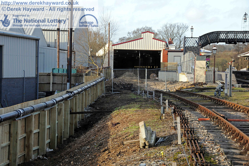 Looking towards Turners Sidings, or should that be Woodpax? 03.02.2011  5732