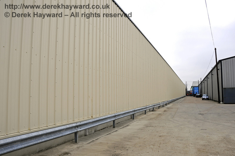 The western side of the Carriage Shed wall has been completed.  This view looks south.  17.03.2011  6458