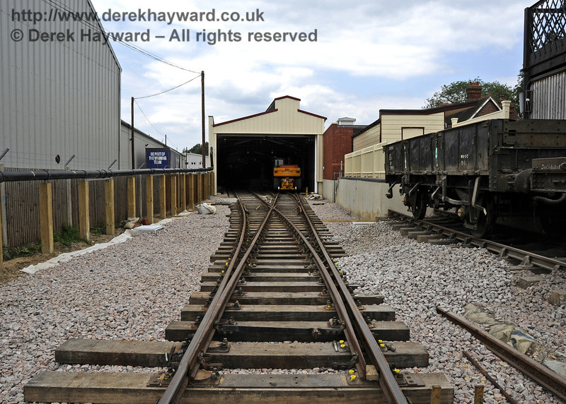 Looking north along the access to the Carriage Shed with the Dock road on the right.  03.07.2011  2103