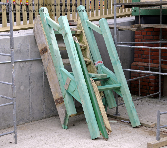 The stairs for the Withyham signal box are being prepared for assembly. 17.03.2011  6435
