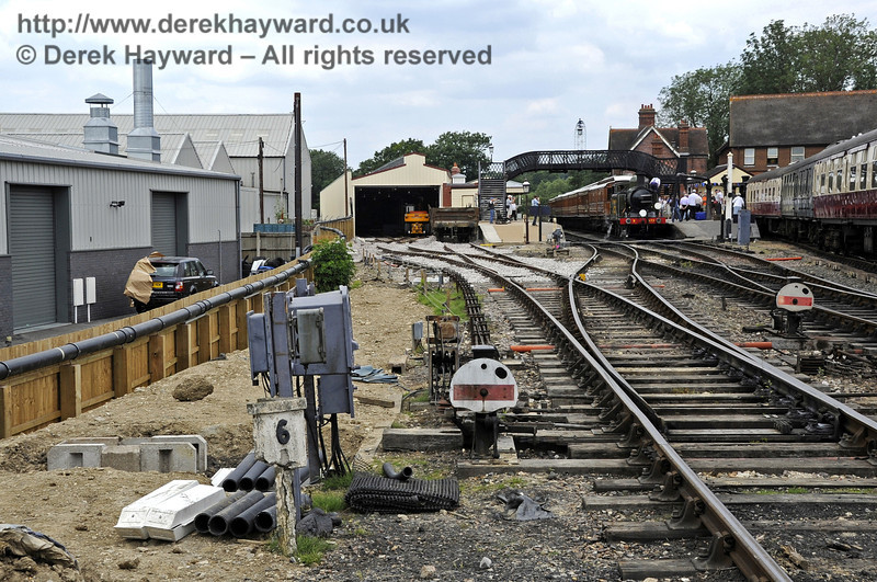 Looking north towards Sheffield Park station with the new track on the left.  03.07.2011  2113