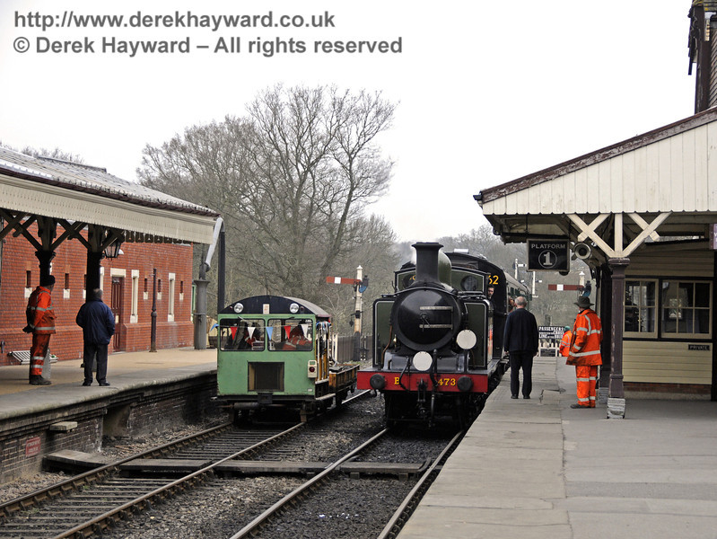 The Wickham trolley helping with the works.  17.03.2011  6491