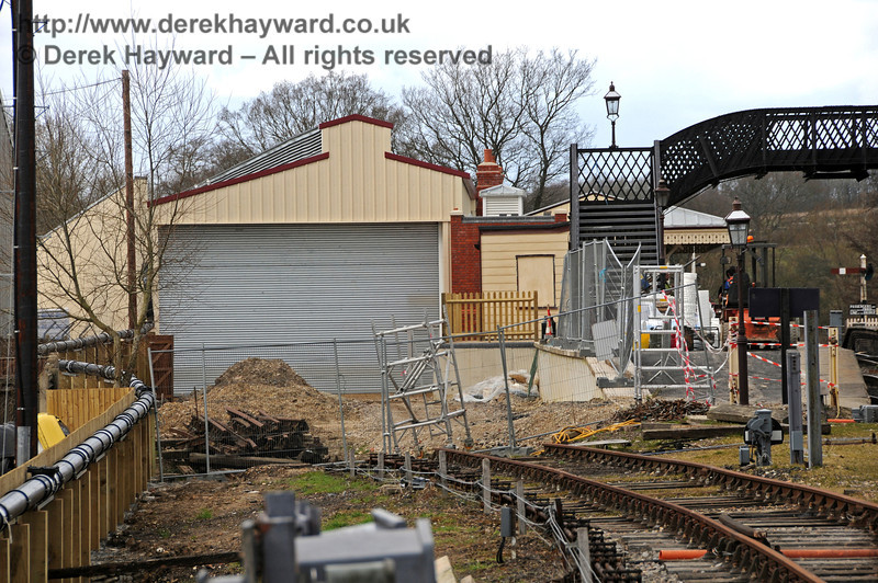 Looking north towards the new Carriage Shed.  09.03.2011  6139