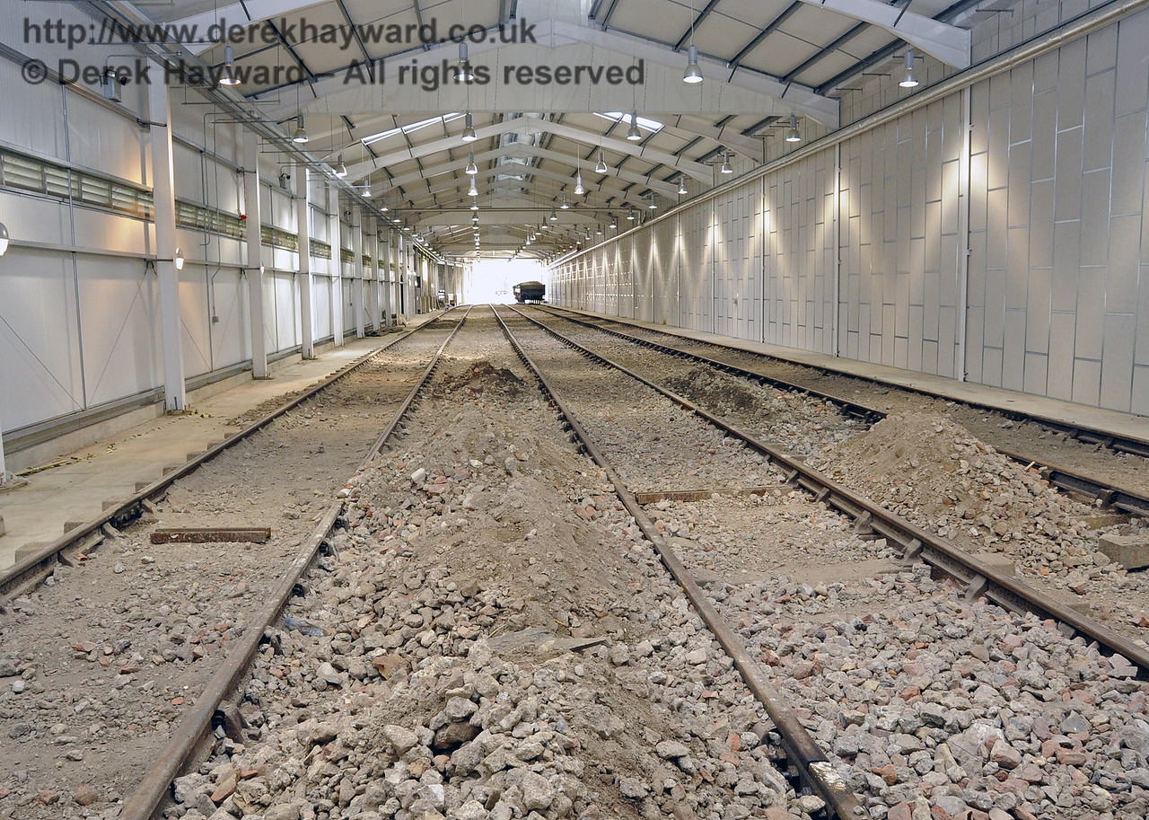 Looking south in the Carriage Shed from the buffers.  The surplus fill material will be removed in due course.  24.09.2011  2869