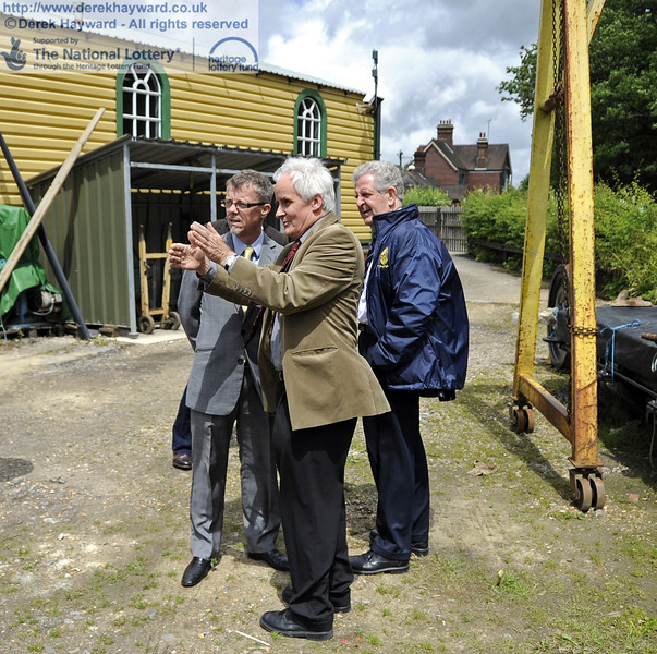 Later in the day, the scheme for the new Carriage and Wagon facilities at Horsted Keynes is explained to  Alastair Fairley, Committee Member for South East, Heritage Lottery Fund.  16.06.2012  5103