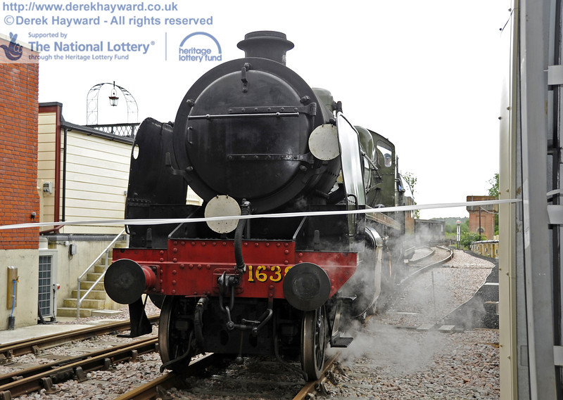 1638 prepares to enter SP Carriage Shed for the official opening ceremony.  16.06.2012  5039