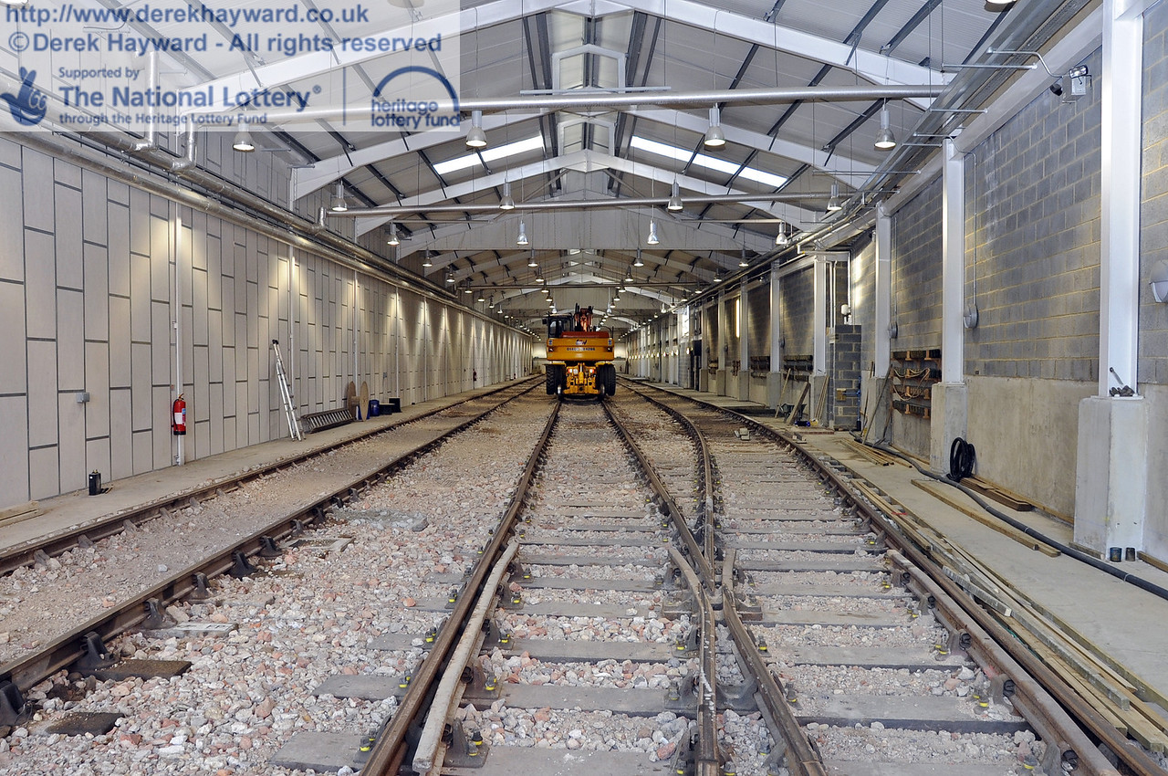 Looking north along the length of the Sheffield Park Carriage Shed.  10.03.2012  3763