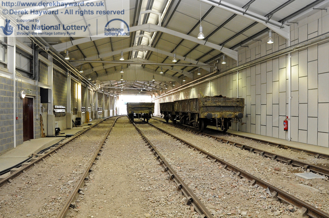 Looking south in the carriage shed.  19.02.2012   3601