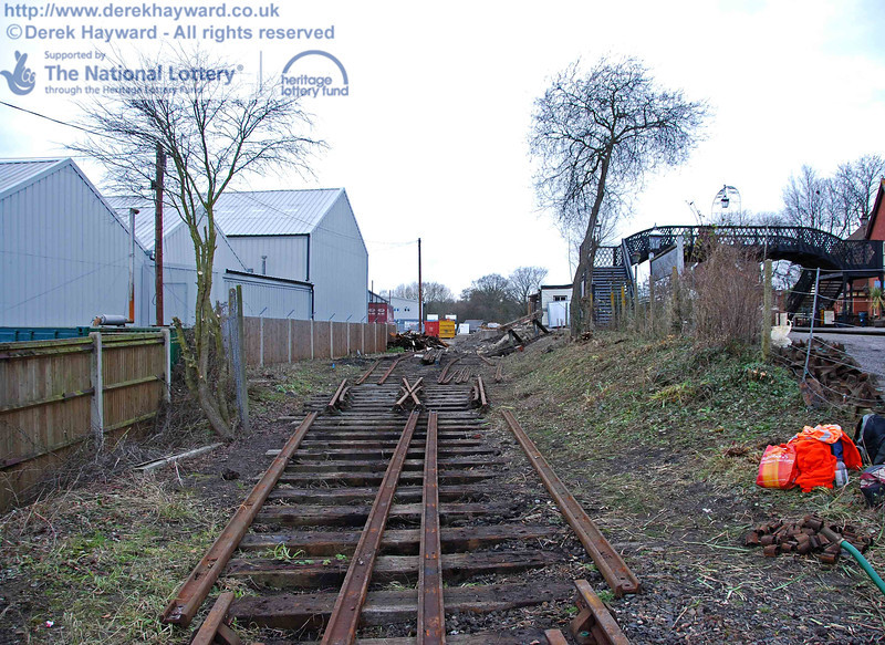 The remains of the Woodpax sidings await lifting after PWay have done their job. This view looks north. 24.01.2010  0123