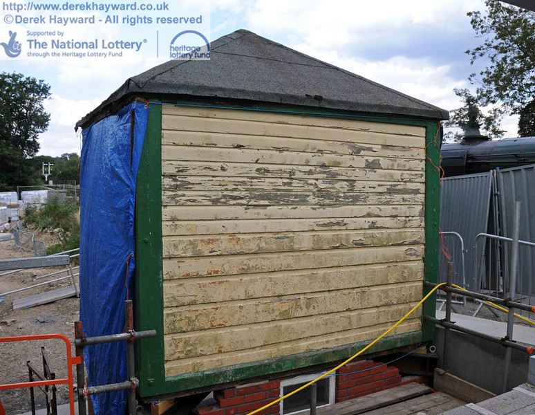The rear of Withyham signal box, which appears to require some TLC in due course. 28.07.2010  3469