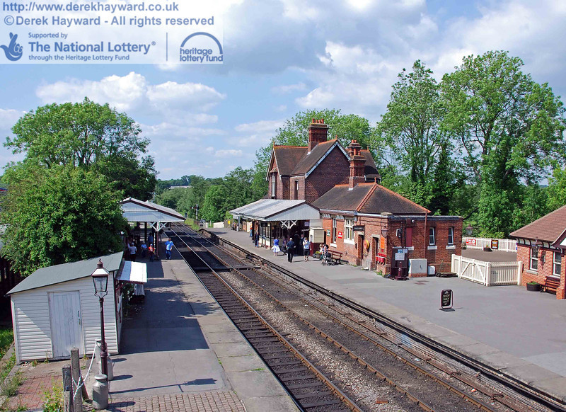A general view of Sheffield Park Station, looking north, prior to the start of the works. 02.06.2007