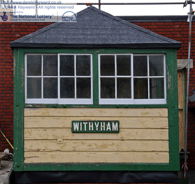 Withyham Signal Box. Note that the windows (and roof) have been refurbished, with other areas still to receive attention. 15.12.2010  5432