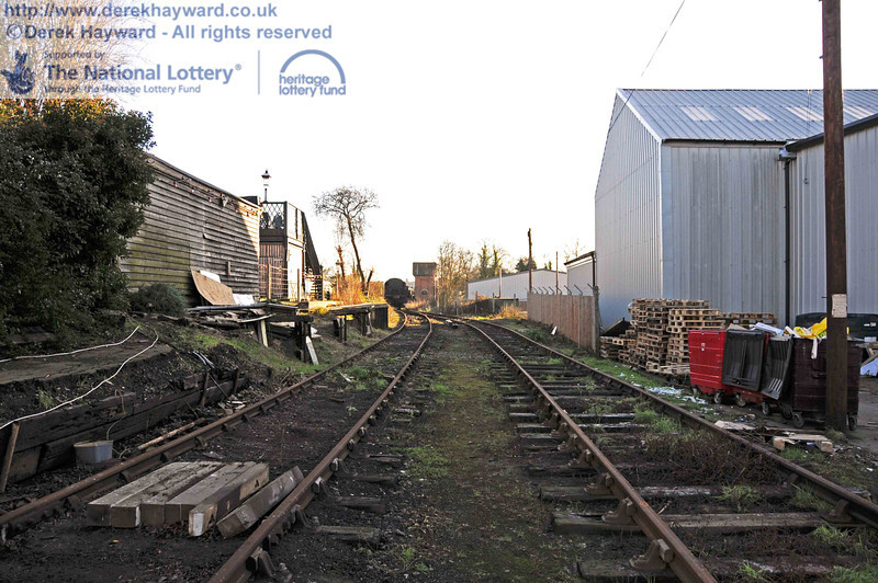 The western (Woodpax) sidings at Sheffield Park are now clear and await the arrival of the contractor. This view looks south. 01.01.2010  0057