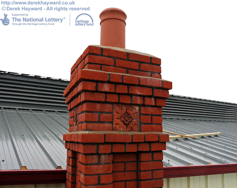 Some of the brick detail on the new chimney. You will be hard pressed to see this from the ground, but it is typical of the high quality of the work. 15.12.2010  5465