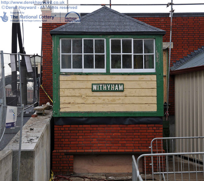 Withyham signal box has now been uncovered. 15.12.2010  5430