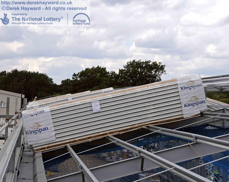 Roof panels awaiting installation. 28.07.2010  3420