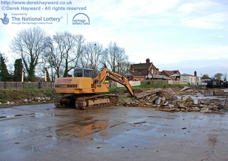 A closer view of the area where the demolished buildings stood as the site is prepared for the arrival of contractors. 15.11.2009.