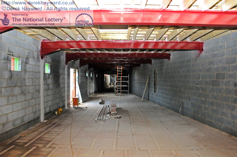 Looking south inside the museum from the northern end. This area will soon be relatively watertight. 22.10.2010  5239