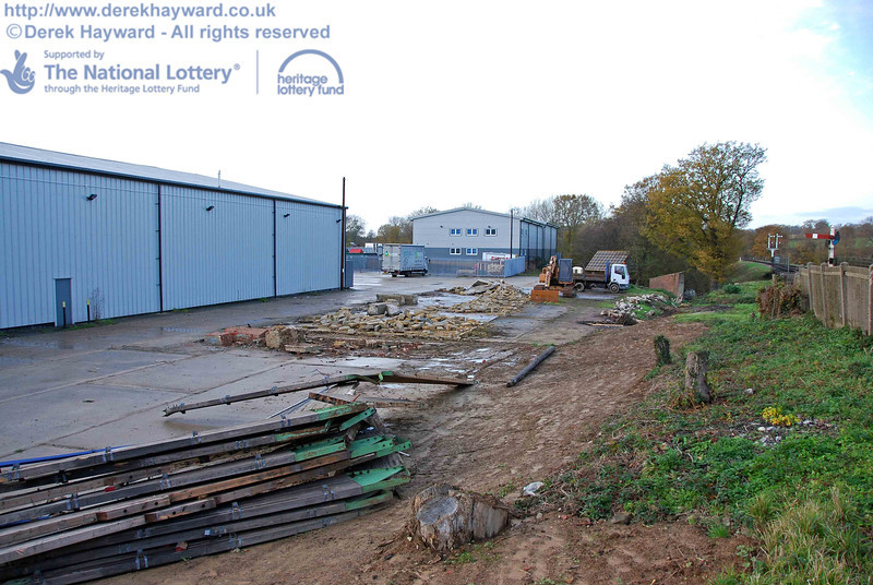The Woodpax site looking north on 15.11.2009
