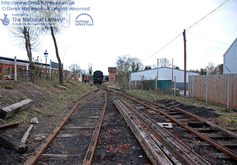 The remains of the Woodpax sidings await lifting after PWay have done their job. This view looks south. 24.01.2010  0130