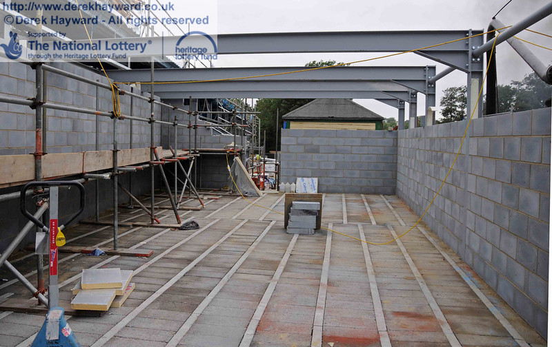 The northern part of the Museum area, looking north towards the new signal box. 06.08.2010  3607
