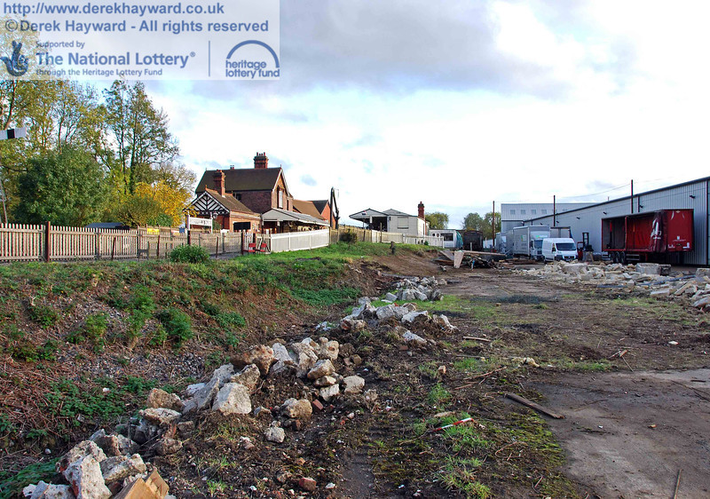 Looking south at the Woodpax site after the shed had been demolished, with Sheffield Park Station on the left. 23.10.2009.