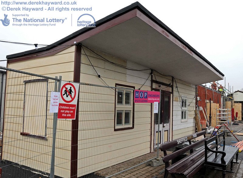 Work is continuing on the conversion of the building to the Bulleid bookshop. This view looks north. 15.12.2010  5437
