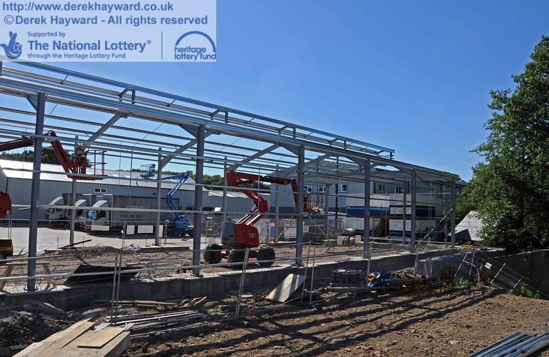 The northern end of the carriage shed framework. 18.07.2010  3204