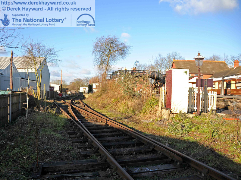 The western (Woodpax) sidings at Sheffield Park are now clear and await the arrival of the contractor. This view looks north. 01.01.2010  0056