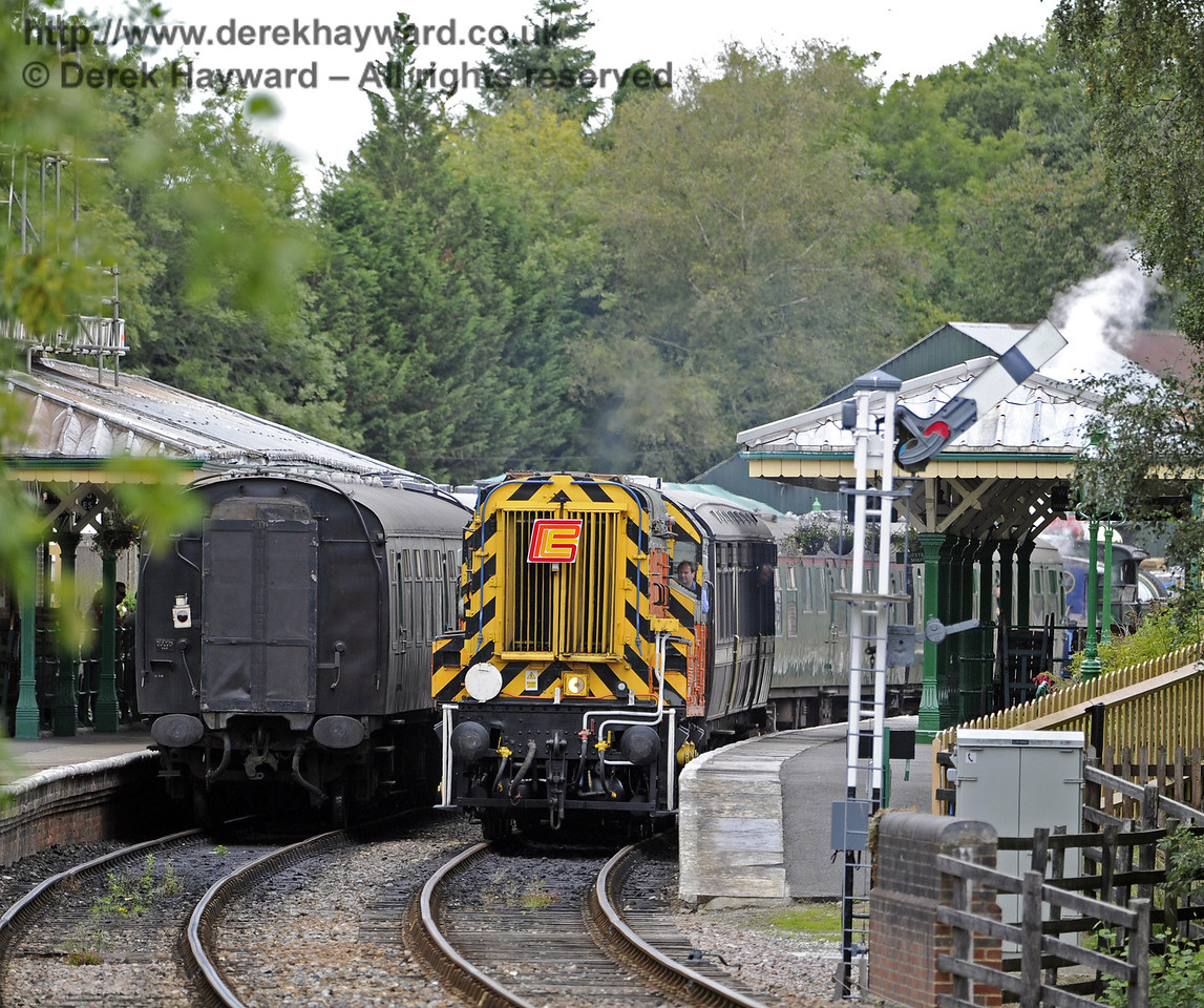 09018 at Kingscote with a private charter.  01.09.2013  8034