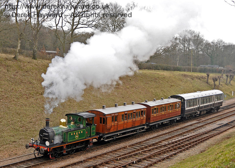 178 leaves Horsted Keynes with a northbound train.  12.03.2011  6228
