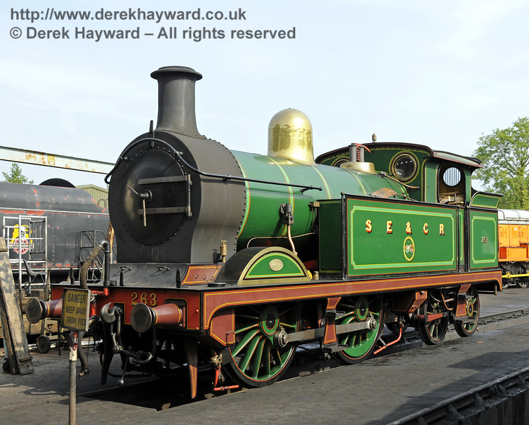 263 on shed at Sheffield Park.  12.07.2014  11210